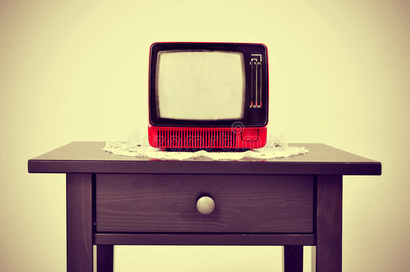 古老电视 向量例证