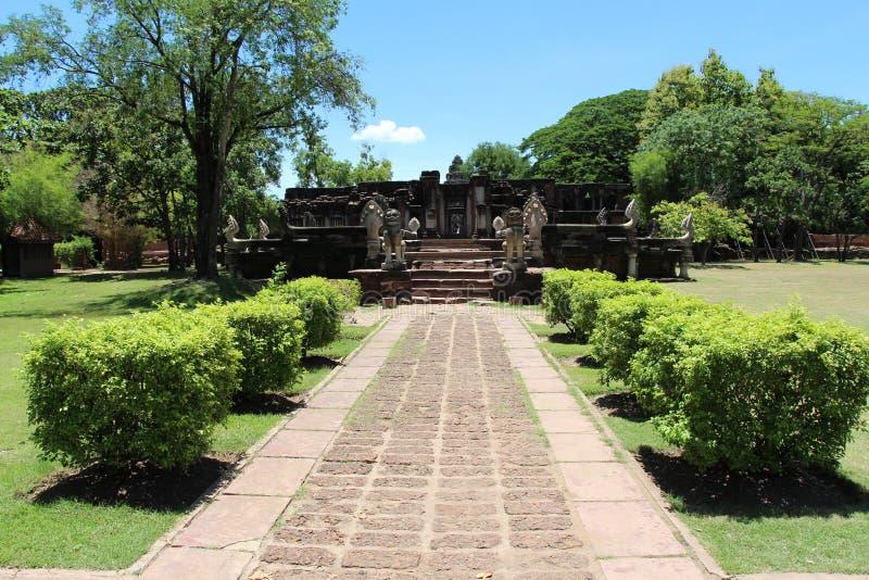 古老石城堡在泰国 免版税库存图片