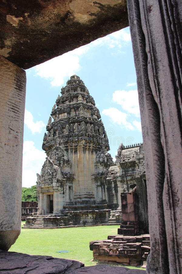 古老石城堡在泰国 库存图片