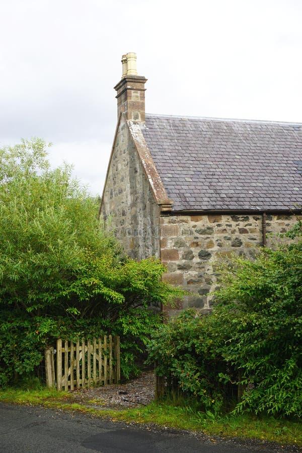 古老石村庄在农村苏格兰 免版税库存图片