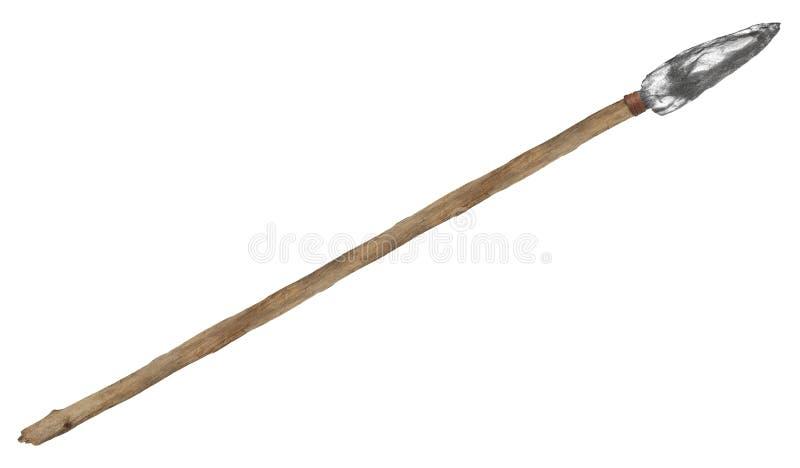 古老石矛,被隔绝的箭头 免版税库存图片