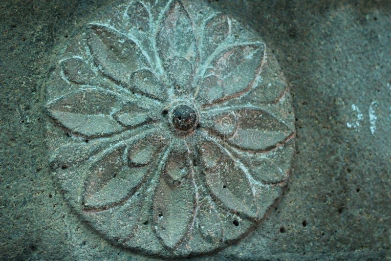 古老石雕刻 免版税库存图片