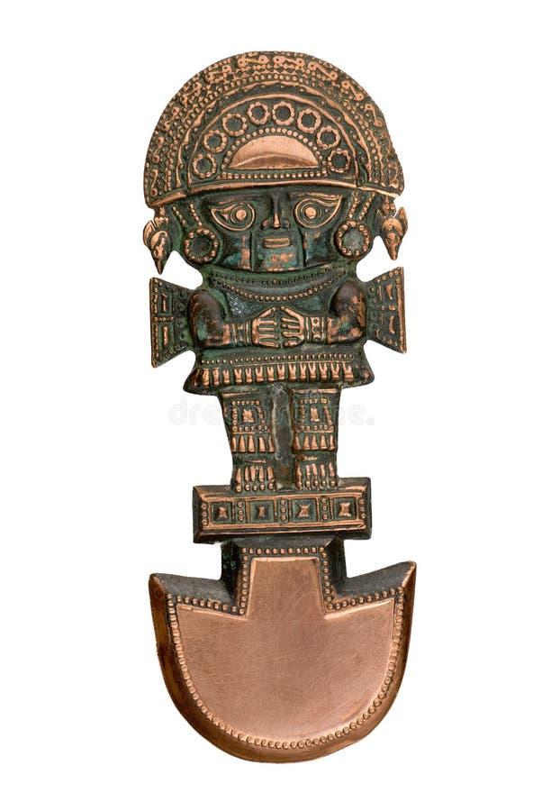 古老礼仪knive秘鲁人 库存照片