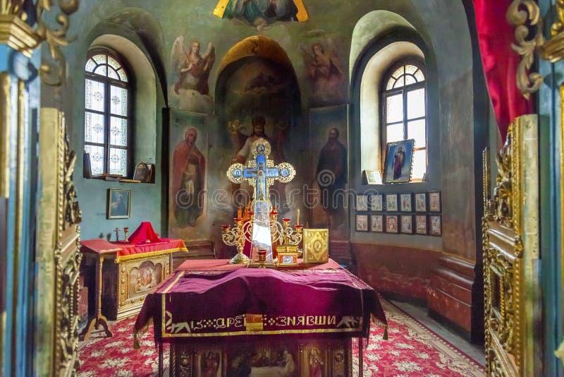 古老神父寓所圣迈克尔Vydubytsky修道院基辅乌克兰 免版税图库摄影
