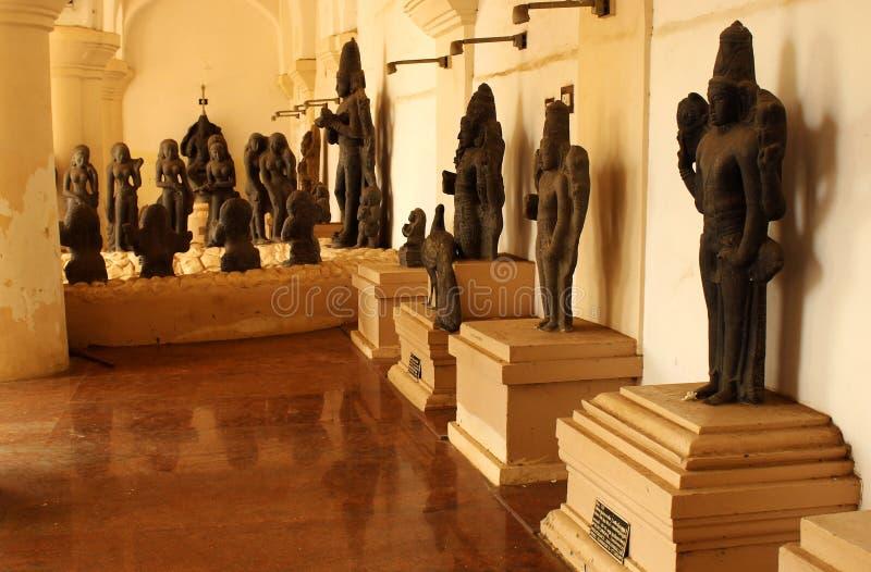 古老神石雕塑 库存照片