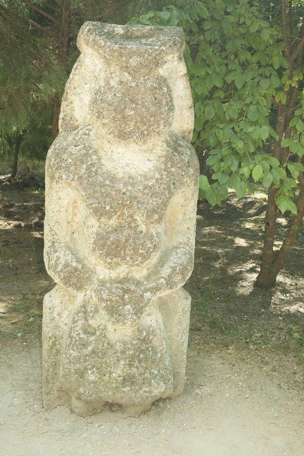 2古老纪念碑 Scythian干草原雕塑 库存图片