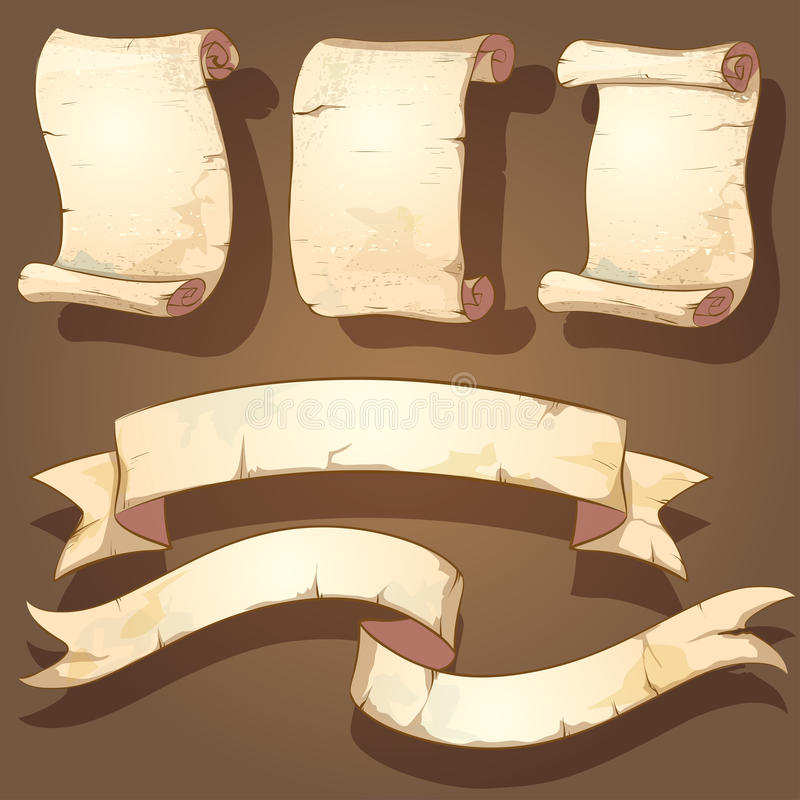 古老纸卷 皇族释放例证