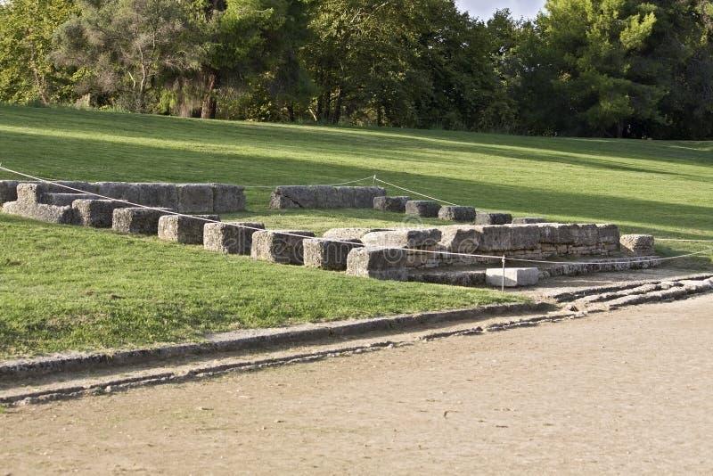 古老经典希腊奥林匹亚奥林匹克体育&# 图库摄影