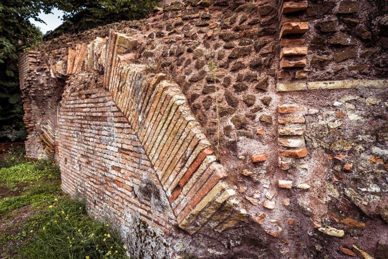 古老罗马废墟在罗马 库存图片