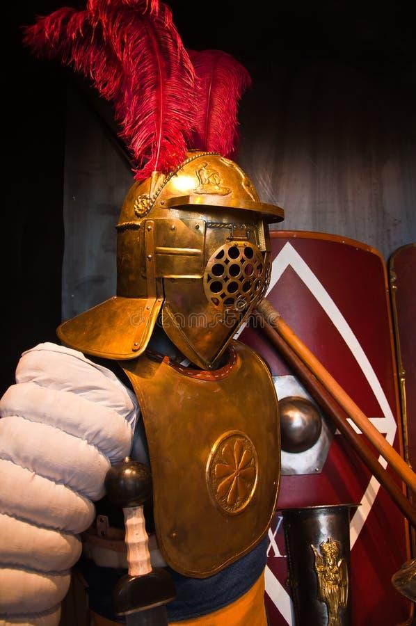 古老罗马战士装甲 库存照片