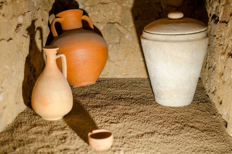 古老罗马瓦器 免版税库存图片