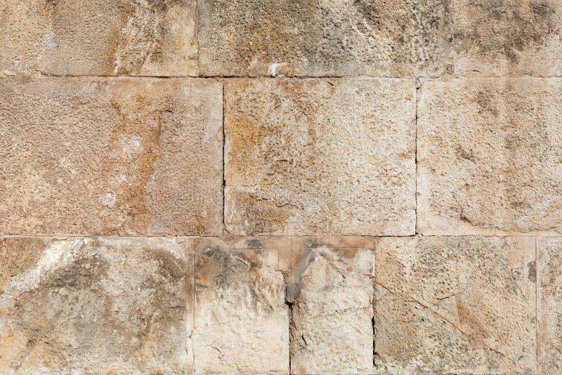 古老罗马石墙背景 图库摄影