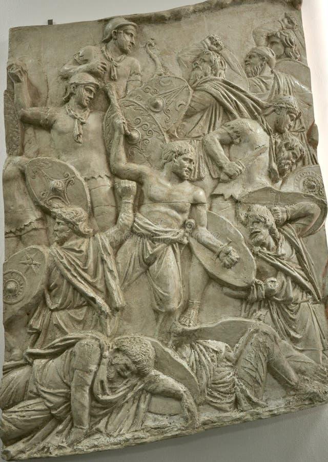 古老罗马石雕刻 免版税库存图片