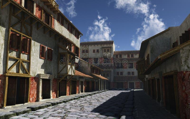 古老罗马街道 向量例证