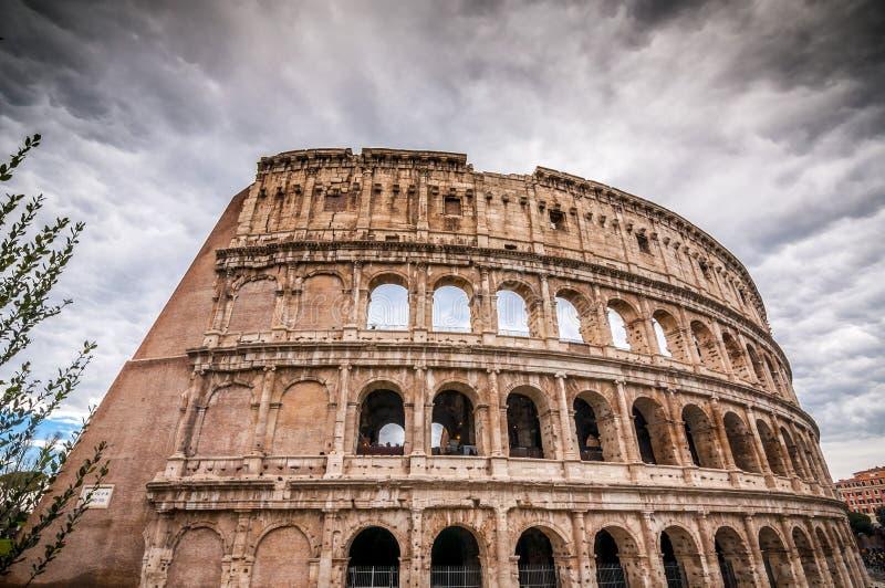 古老罗马Colloseum的外视图在罗马 免版税图库摄影