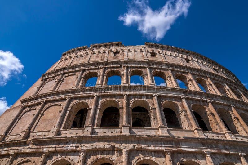 古老罗马Colloseum的外视图在罗马 库存图片