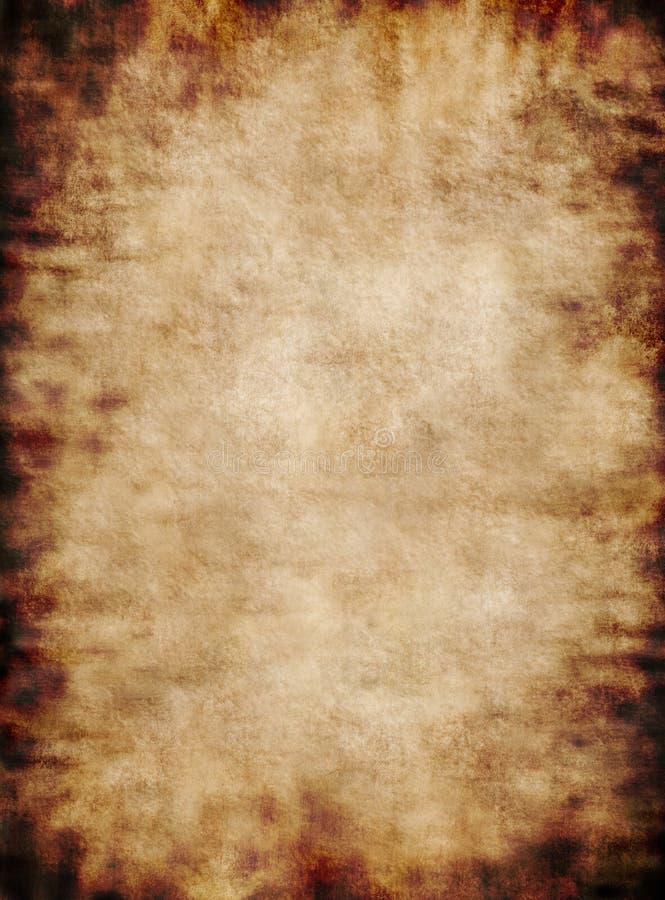 古老背景脏的纸羊皮纸土气纹理 免版税图库摄影