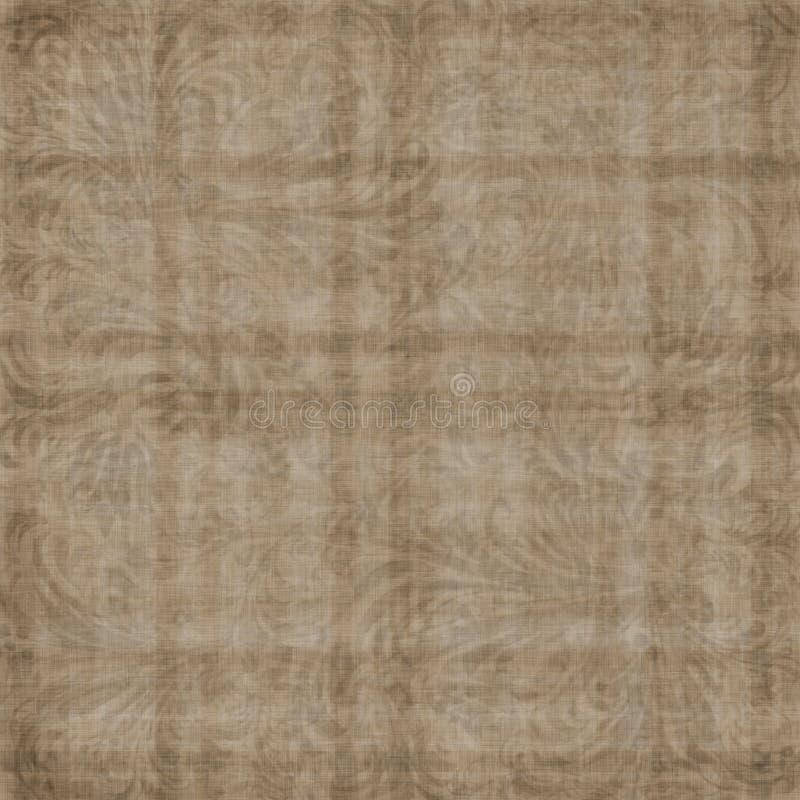 古老背景褐色grunge装饰品 皇族释放例证