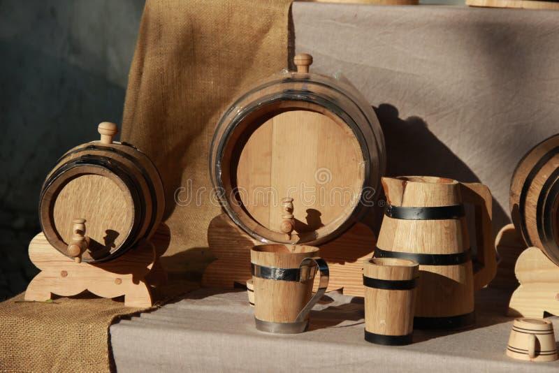 古老葡萄酒桶 免版税库存照片