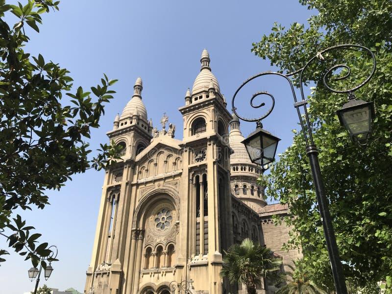 古老被建立的教会建筑学在智利 免版税图库摄影