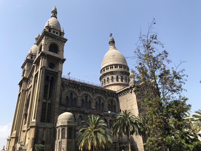 古老被建立的教会建筑学在智利 库存图片