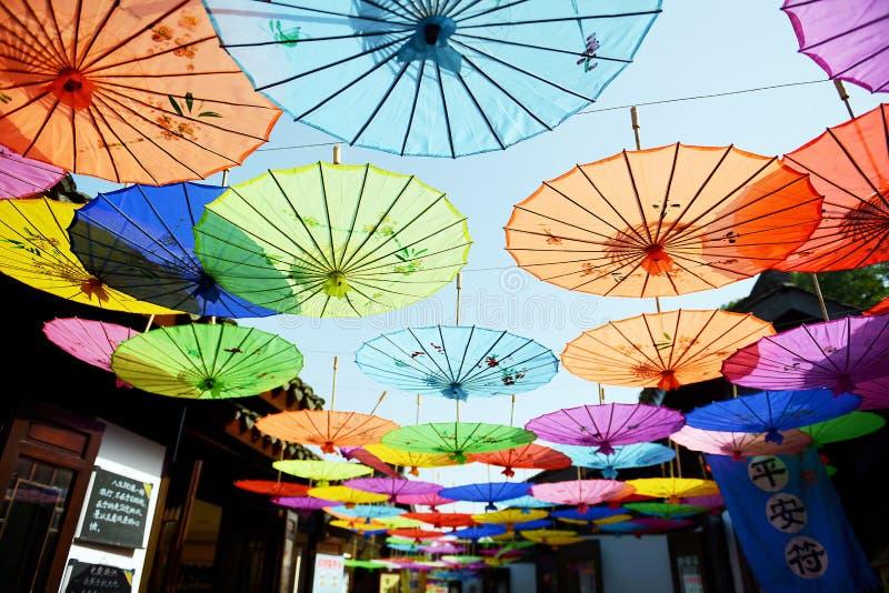 古老装饰伞 库存图片