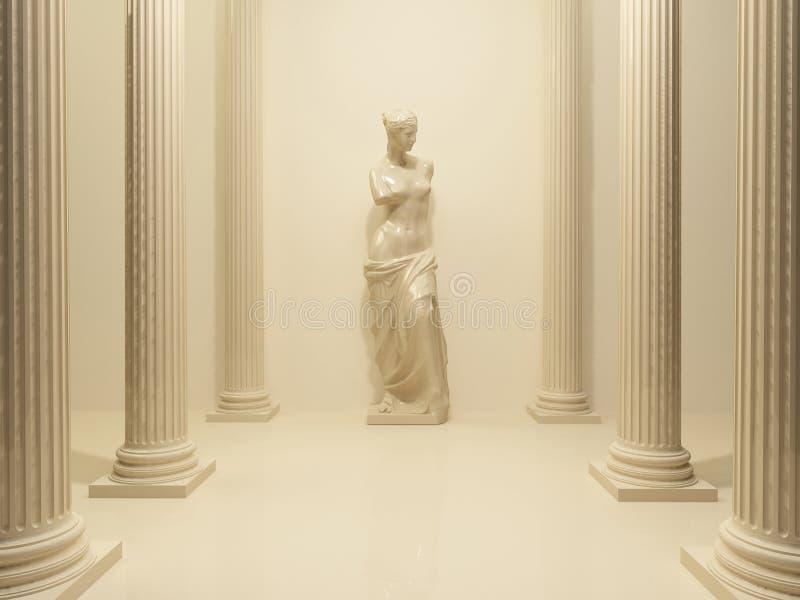 古老裸体雕象金星 皇族释放例证