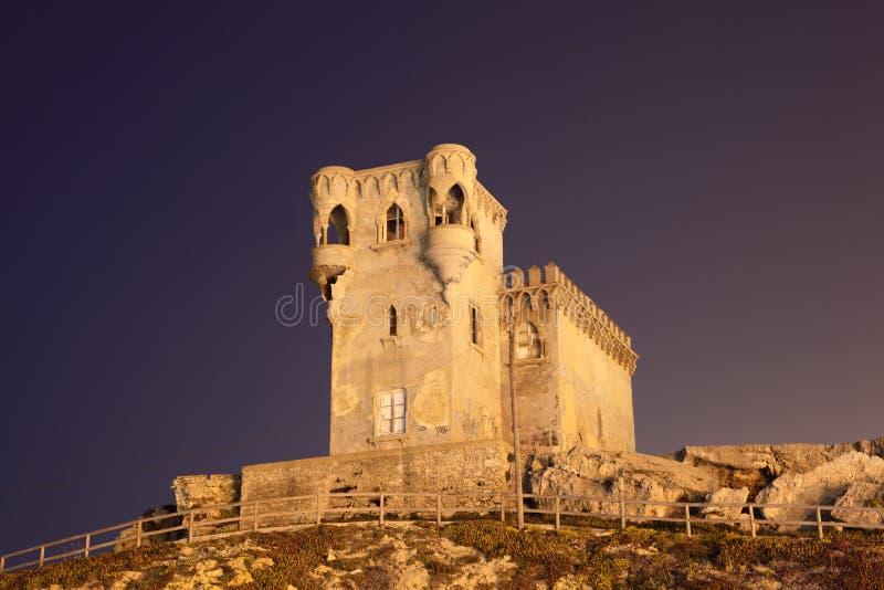 古老西班牙tarifa塔 免版税库存照片