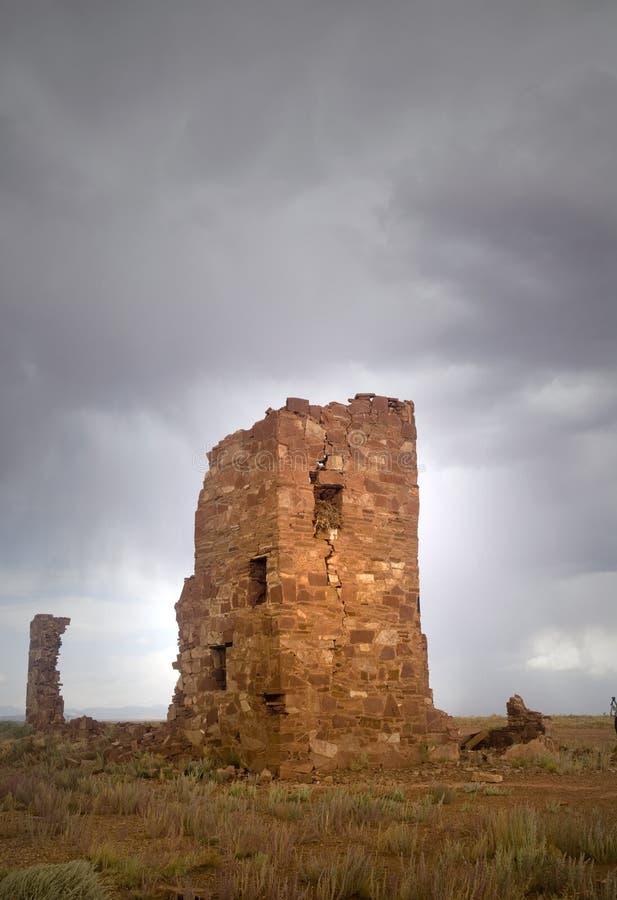 古老观测所废墟 库存图片