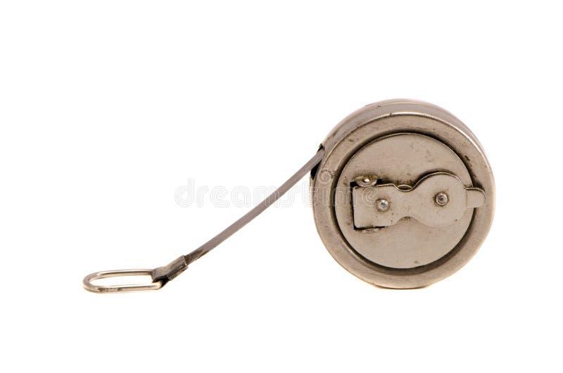 古老设备查出的长度评定的轮盘赌 免版税库存照片