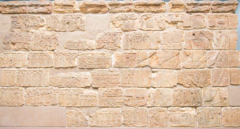 古老象形文字在大英博物馆 免版税库存图片