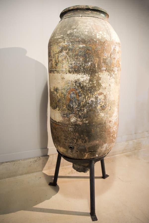 古老酒油罐 免版税库存图片