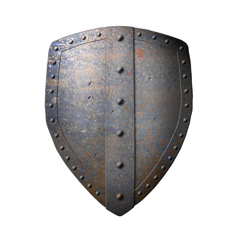 古老铁盾 库存例证