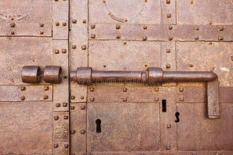 古老门闩 免版税库存图片