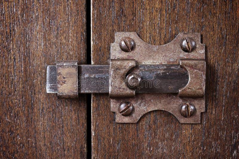 古老门闩 库存图片