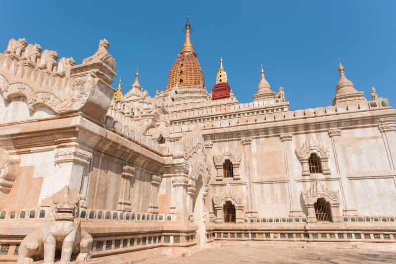 古老阿南达塔Bagan (异教徒),曼德勒,缅甸 库存图片