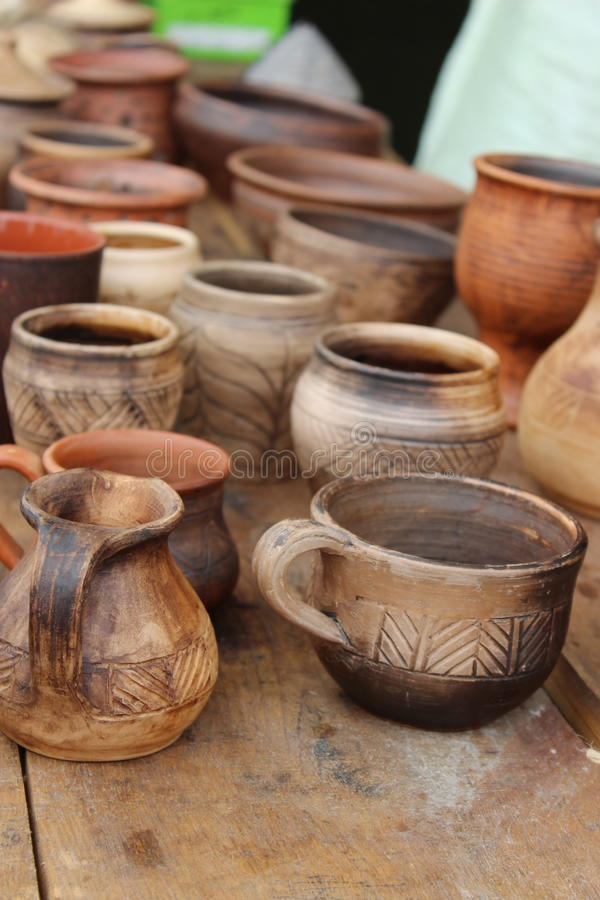 古老陶器 库存图片