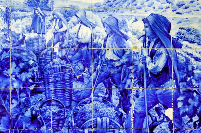 古老陶瓷douro葡萄牙谷 免版税库存图片