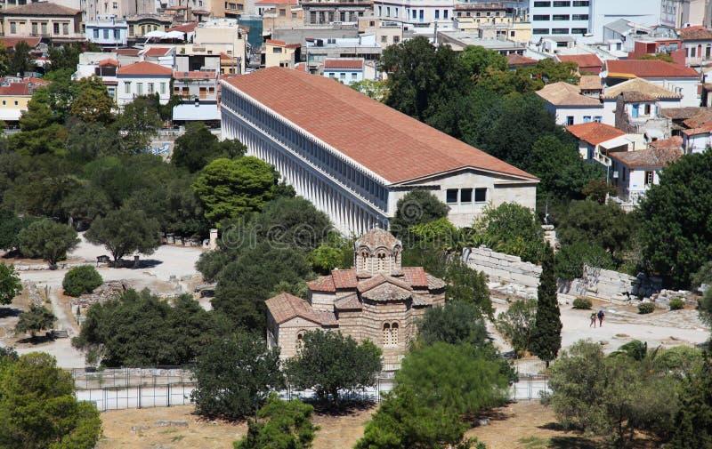 古老集市在雅典 免版税库存照片