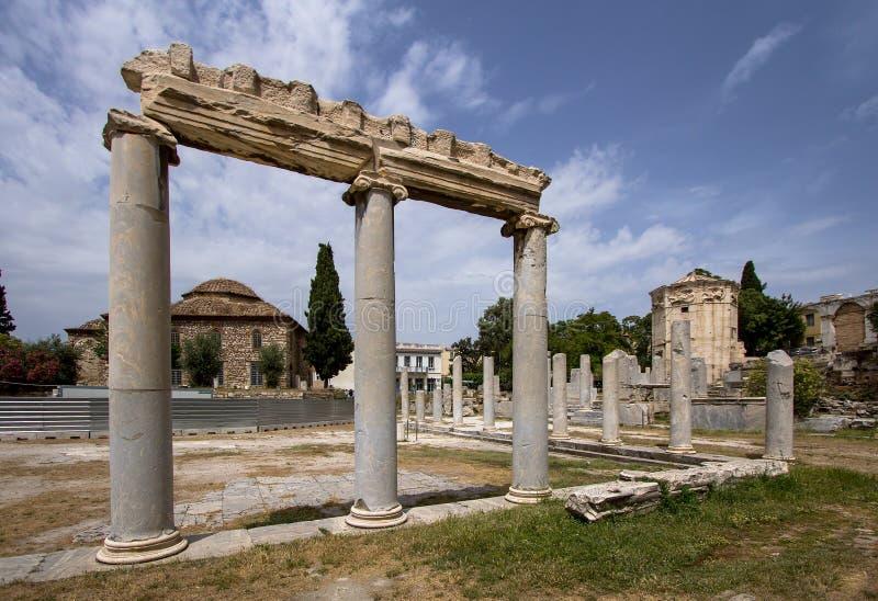 古老集市,雅典,希腊 图库摄影
