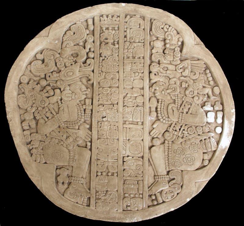 古老雕刻玛雅 免版税库存图片