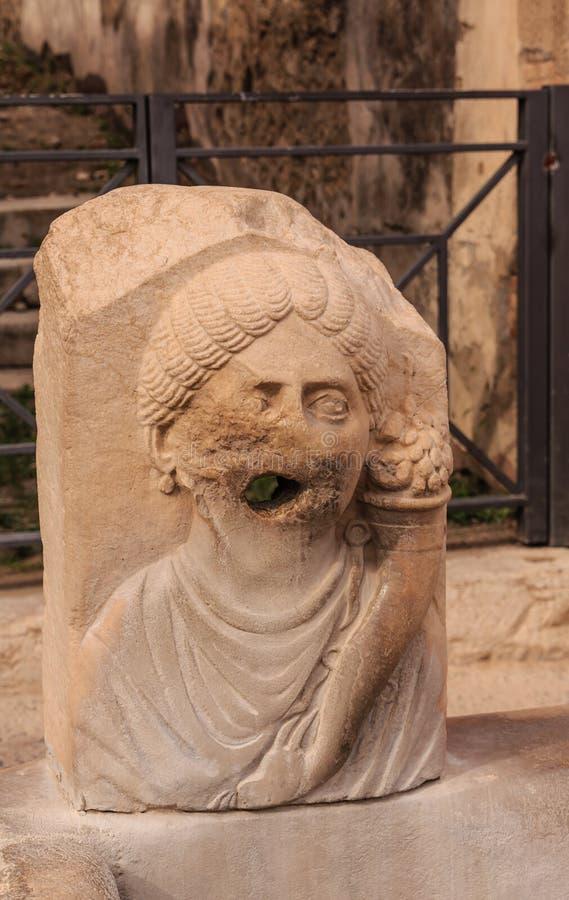 古老雕塑在庞贝城 库存照片