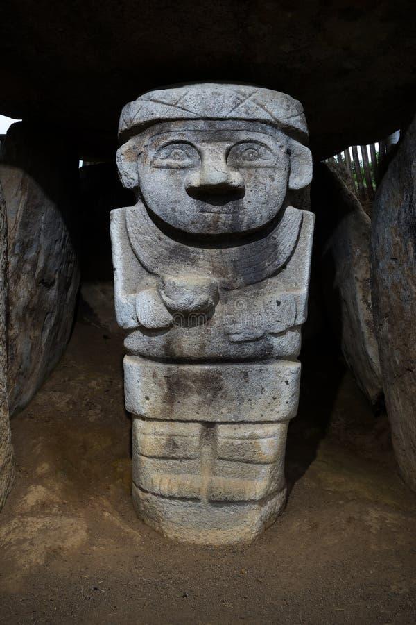 古老雕象在圣阿古斯丁 库存照片