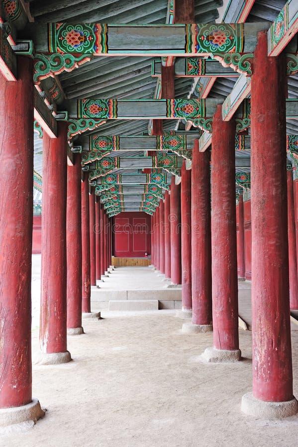 古老韩国宫殿 库存图片