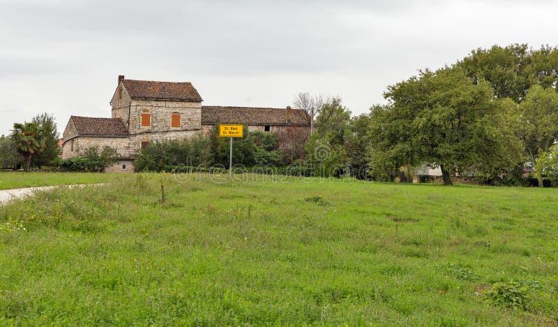 古老驻地Blek在Istria,克罗地亚 库存图片