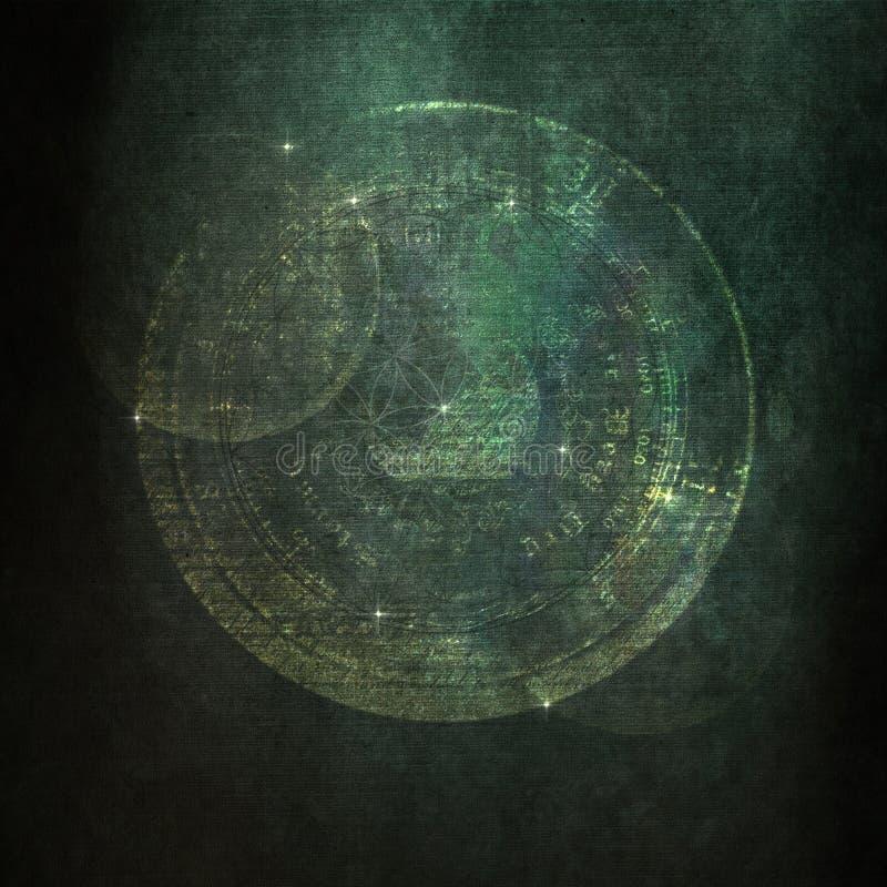 古老,神秘,宇宙难看的东西纹理 免版税库存照片