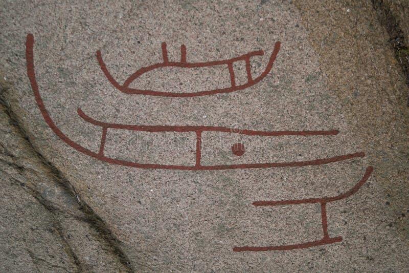 古老刻在岩石上的文字 免版税图库摄影
