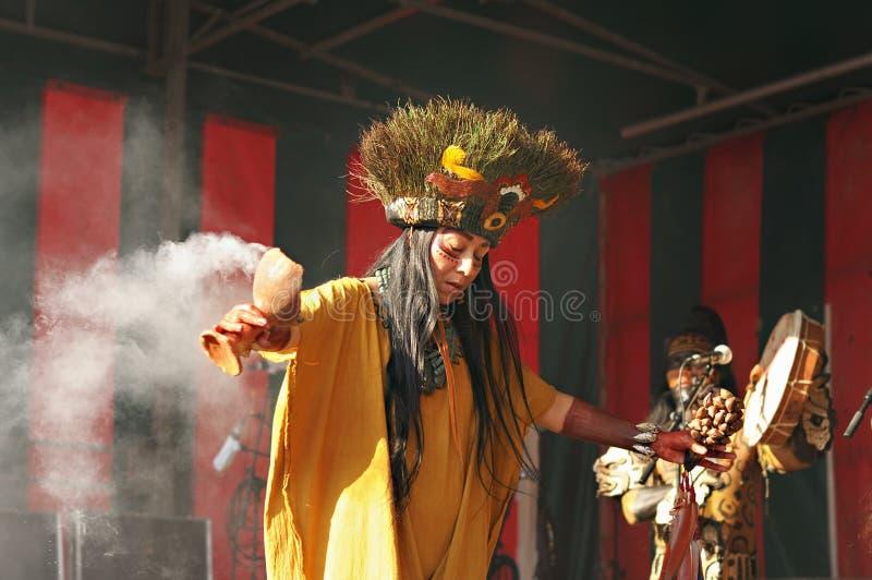 古老仪式在墨西哥 免版税库存照片