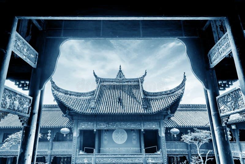 古老结构汉语 库存图片