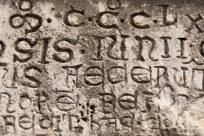 古老登记拉丁 免版税库存照片